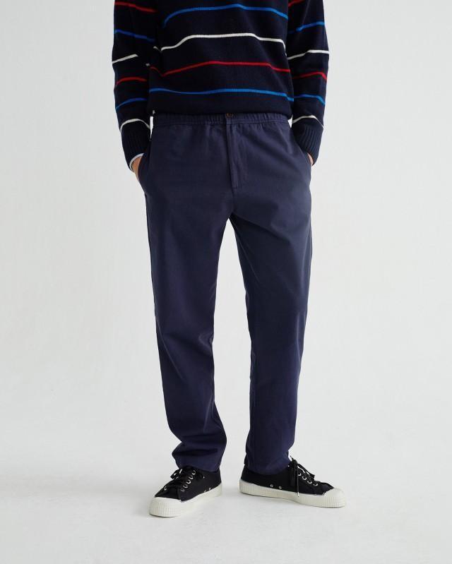 Pantalon ample marine en coton bio - travel - Thinking Mu