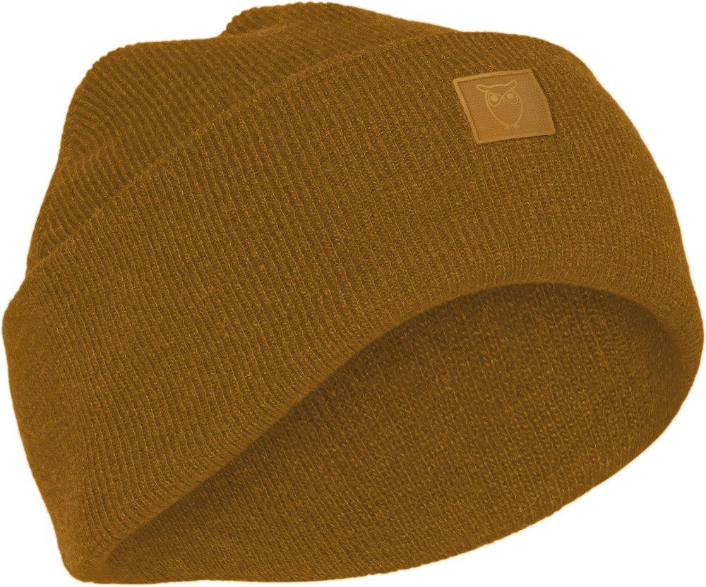 Bonnet camel en laine bio - leaf - Knowledge Cotton Apparel