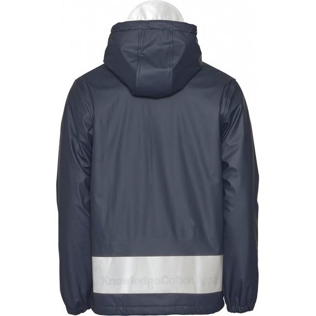 Anorak marine en polyester recyclé - Knowledge Cotton Apparel num 1