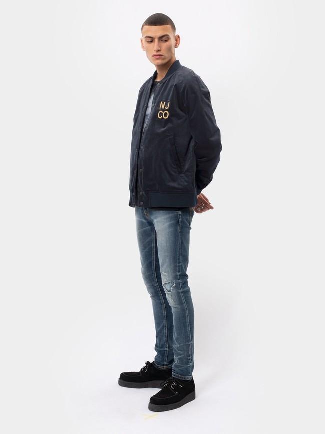 Veste bomber marine en coton bio - mark - Nudie Jeans num 2