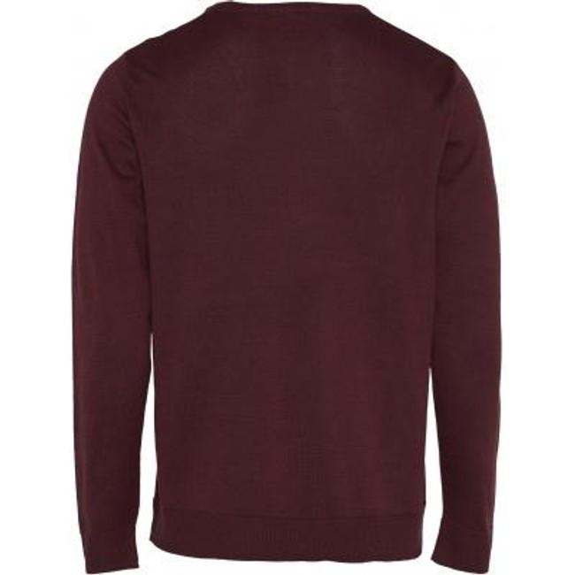 Pull bordeaux en coton bio - mercerized knit - Knowledge Cotton Apparel num 1