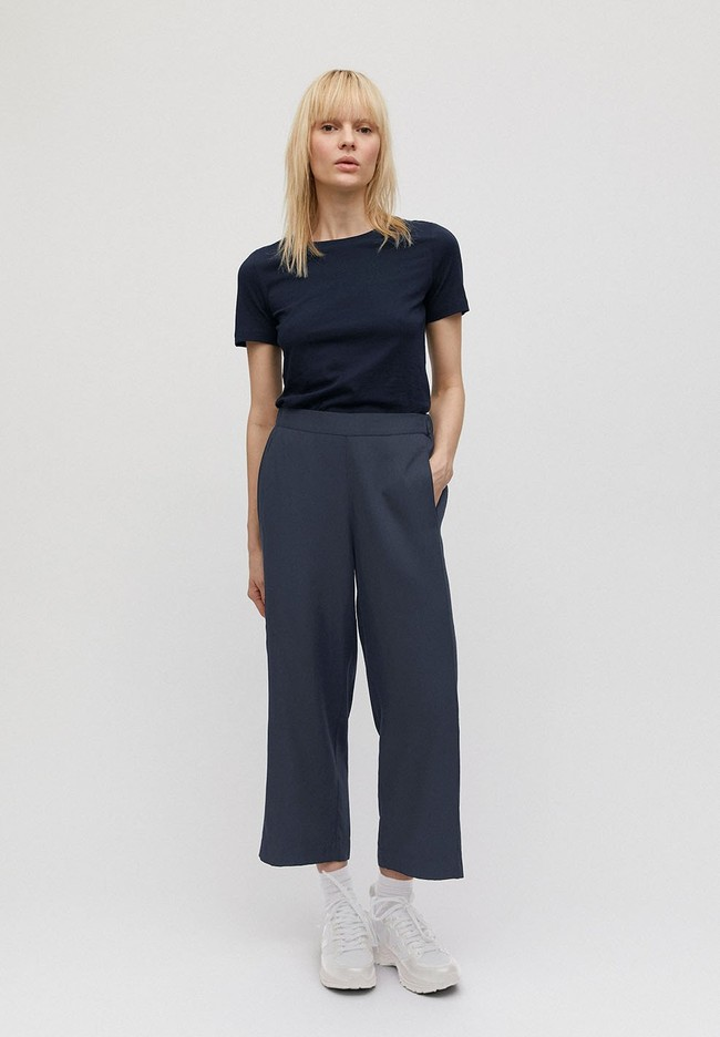 Pantalon ample bleu nuit en tencel - kamalaa - Armedangels