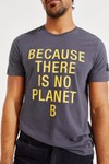T-shirt gris imprimé jaune en coton bio - natal classic because - Ecoalf - 2