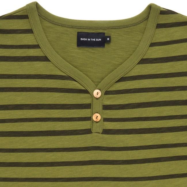 T-shirt en coton bio kaki esperanza - Bask in the Sun num 1