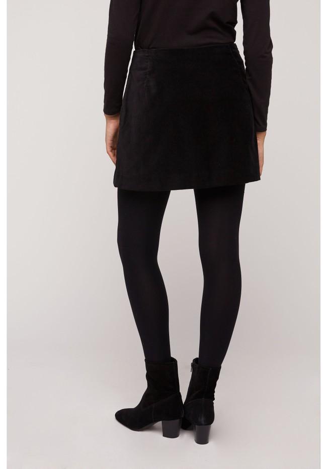 Jupe noire velours en coton bio - layla - People Tree num 4
