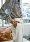 Pantalon azur // ecru - Bagarreuse - 1