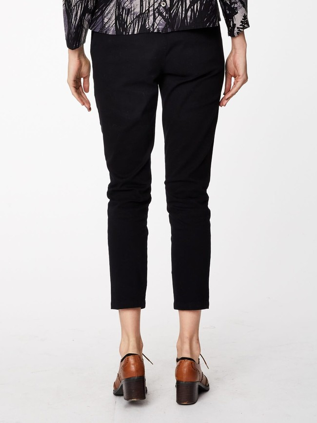 Pantalon noir en twill de coton biologique - Thought num 1