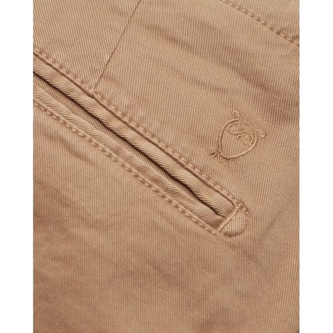 Chino slim camel en coton bio - joe - Knowledge Cotton Apparel num 2