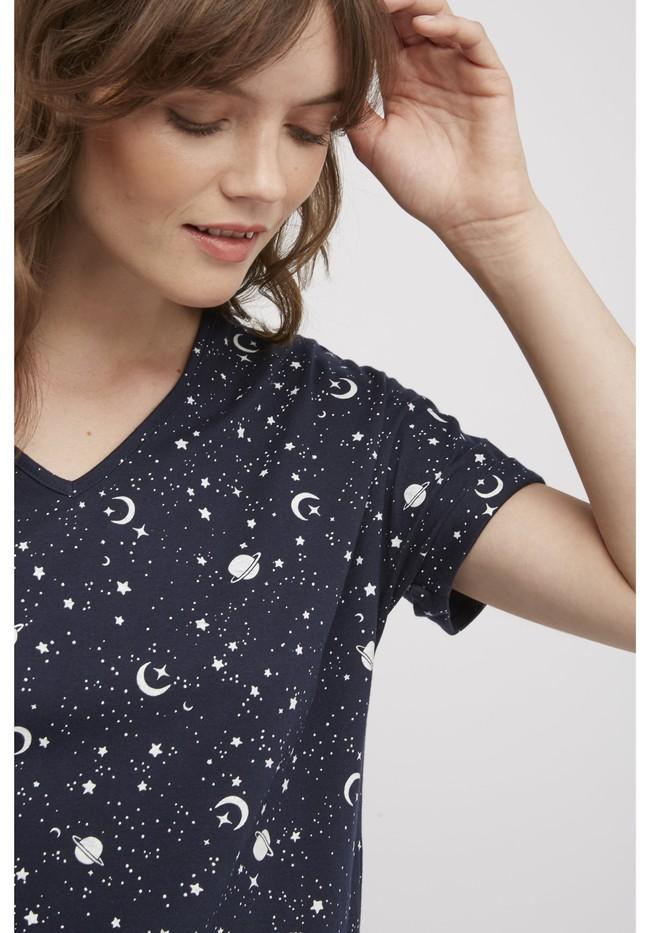 Haut de pyjama motif galaxy en coton bio - People Tree num 3
