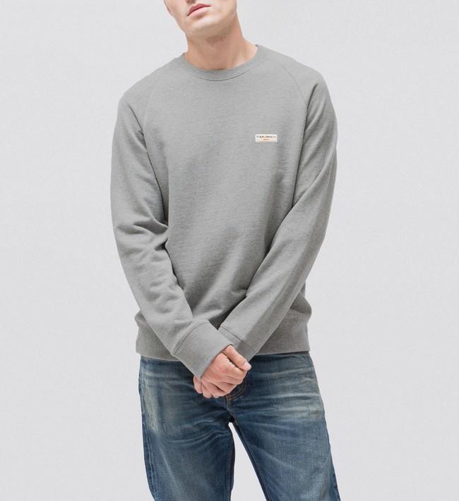 Sweat gris en coton bio - samuel - Nudie Jeans num 1