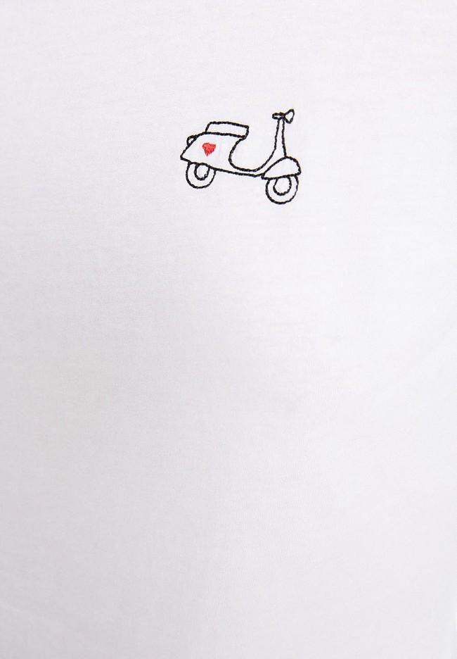 T-shirt manches longues brodé en coton biologique - laraa vespa - Armedangels num 1