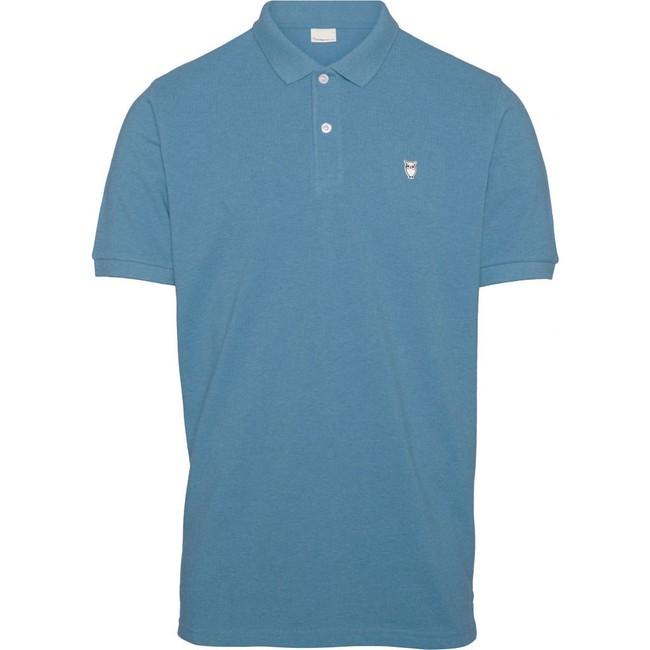 Polo bleu clair en coton bio - pique polo - Knowledge Cotton Apparel