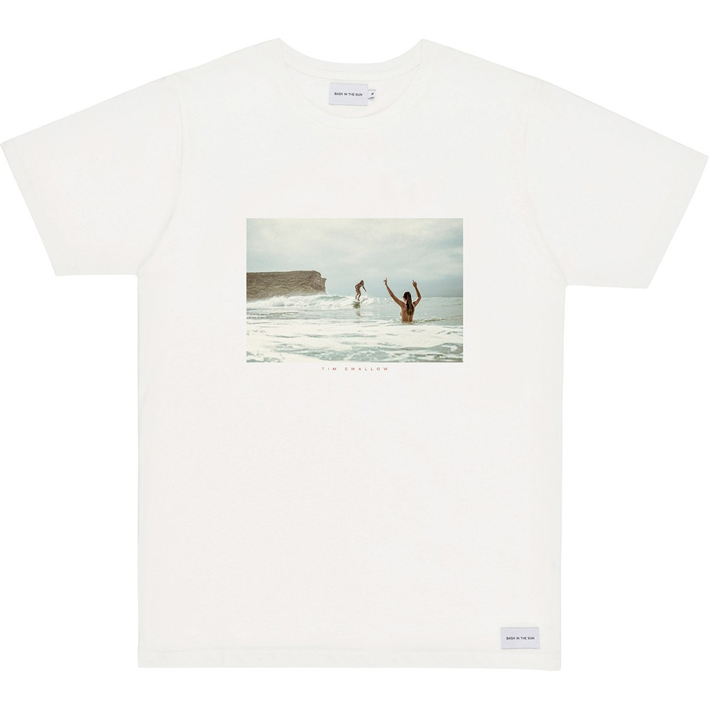 T-shirt en coton bio natural surf naked - Bask in the Sun
