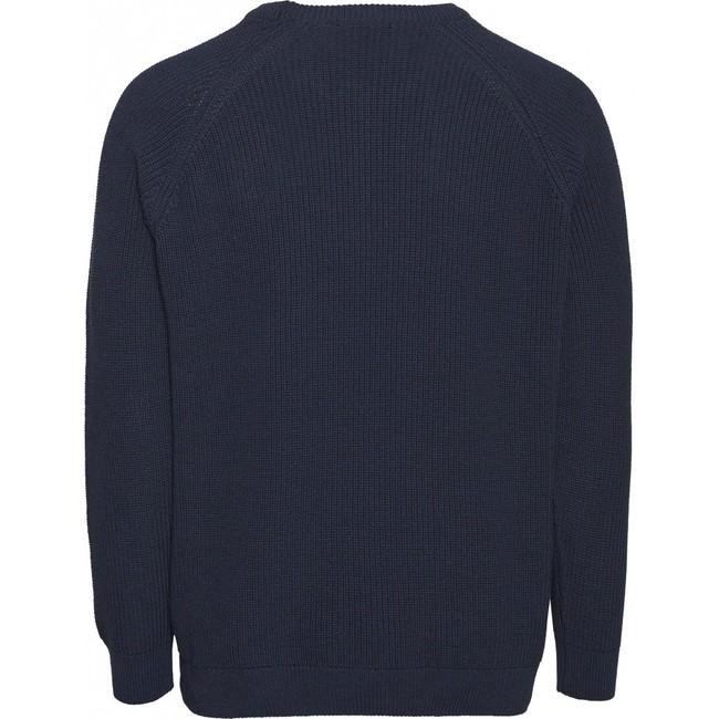 Pull marine en coton bio - valley - Knowledge Cotton Apparel num 1