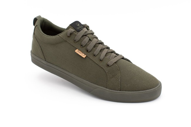 Chaussures recyclées cannon dark olive homme - Saola num 2
