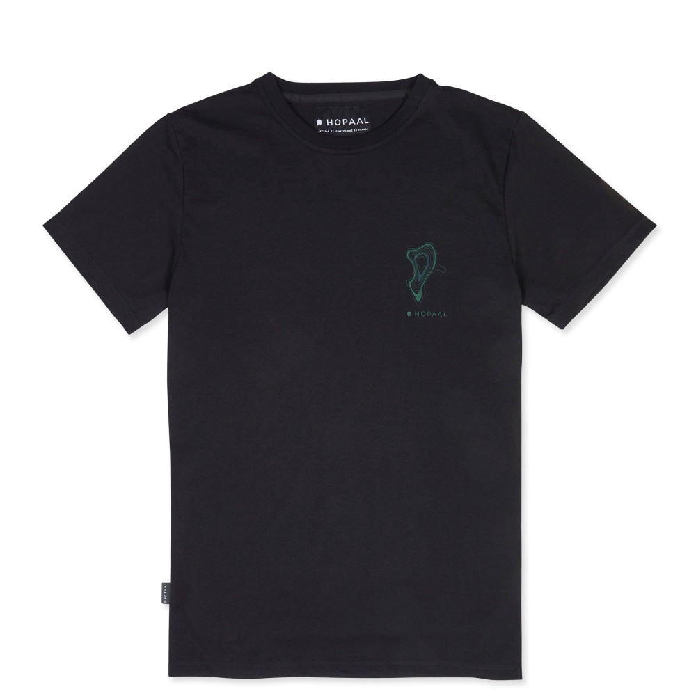 T-shirt recyclé - topo black - Hopaal