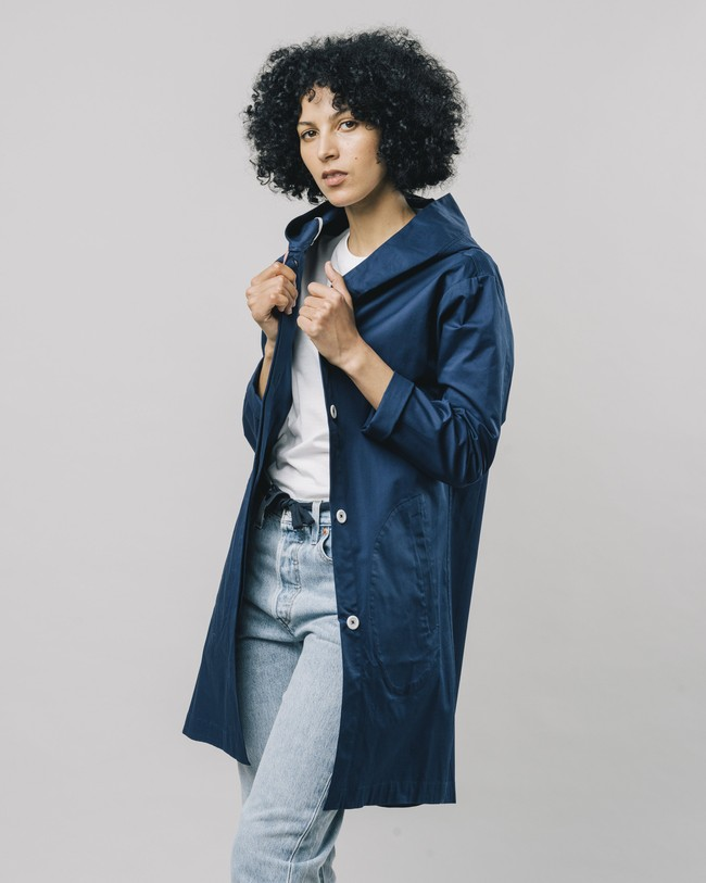 Hooded parka blue - Brava Fabrics