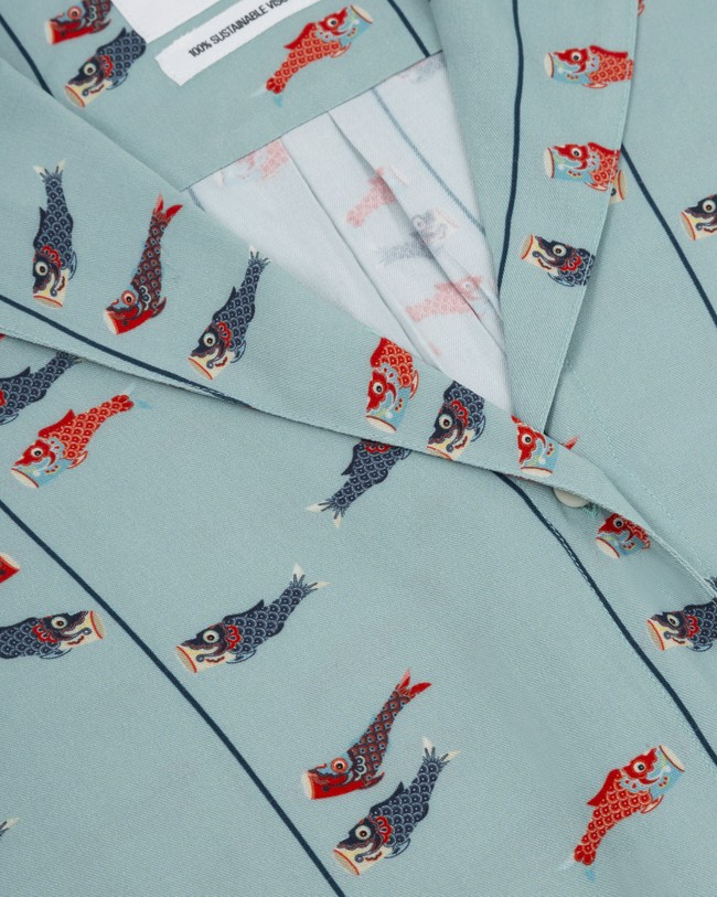 Koinobori kite aloha blouse - Brava Fabrics num 2