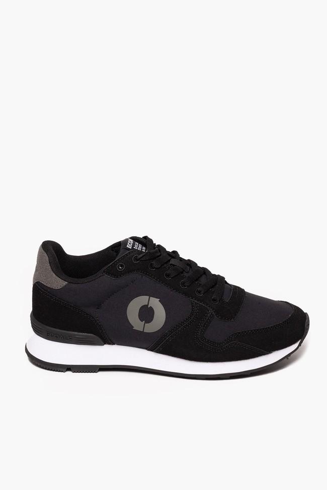 Baskets noires en nylon recyclé - yale sneakers - Ecoalf