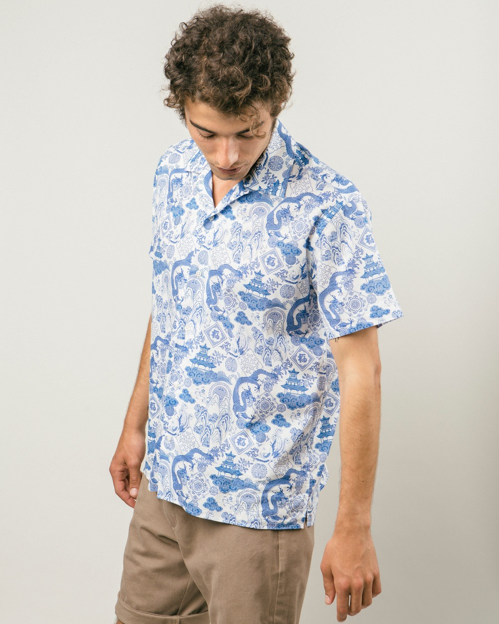 Chinese jar aloha shirt - Brava Fabrics