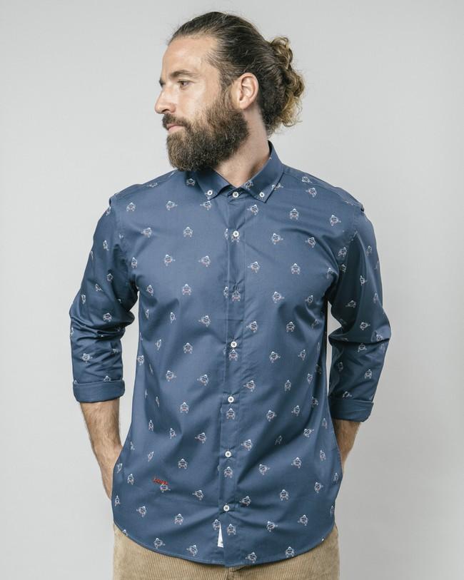 Sumo boy navy printed shirt - Brava Fabrics