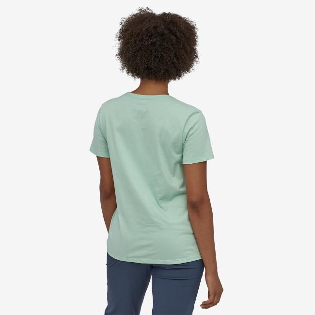 T-shirt imprimé vert pâle en coton bio - pastel p6 - Patagonia num 1