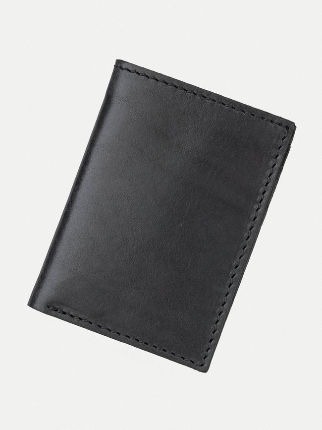 Portefeuille noir en cuir - hagdahl - Nudie Jeans num 1