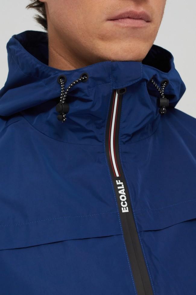 Veste déperlante bleue en polyester recyclé et sorona - dalven nautic - Ecoalf num 1