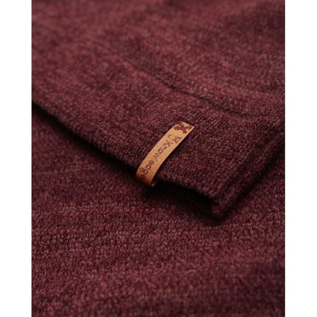 Pull bordeaux en coton bio - chenille o-neck - Knowledge Cotton Apparel num 3