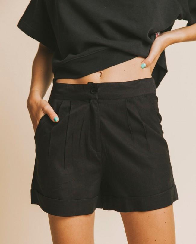 Short noir en coton bio - mamma - Thinking Mu
