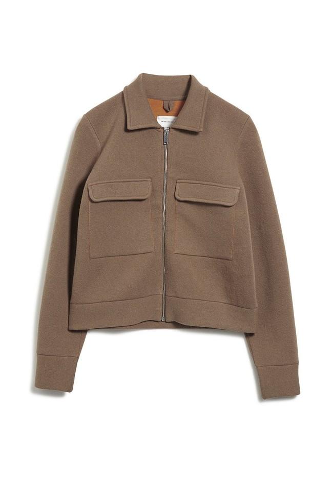 Veste marron en coton et laine bio  - alondraa - Armedangels num 5