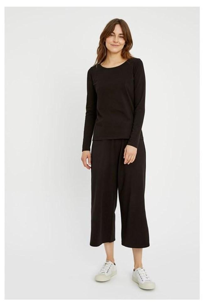 T-shirt à manches longues noir en coton bio - fallon - People Tree num 3