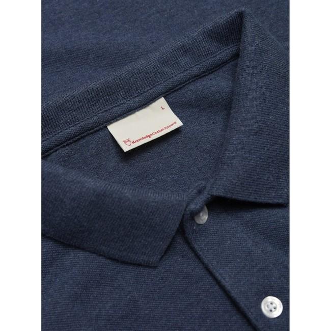 Polo bleu marine en coton bio - pique polo - Knowledge Cotton Apparel num 2