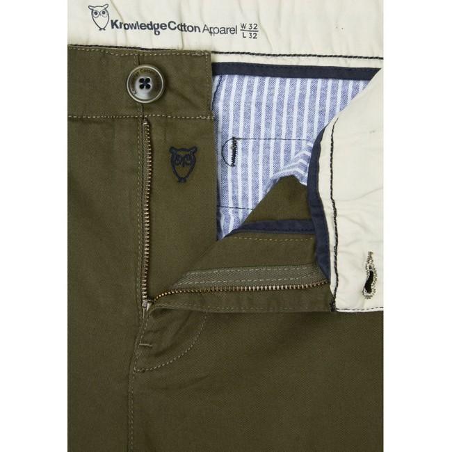Pantalon kaki en coton bio - Knowledge Cotton Apparel num 1