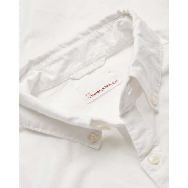 Chemise blanche en coton bio - stretched oxford - Knowledge Cotton Apparel num 2