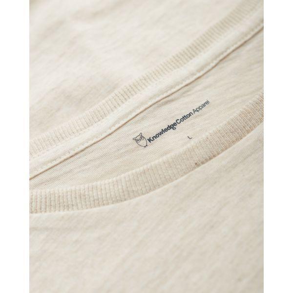T-shirt écru en coton bio - Knowledge Cotton Apparel num 3