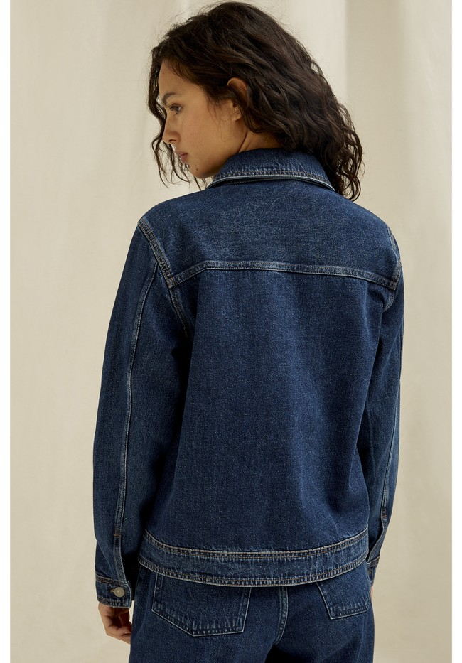 Veste en jean en coton bio - kelia - People Tree num 1