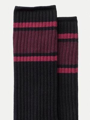 Chaussettes hautes noires en coton bio - amundsson sport - Nudie Jeans num 1