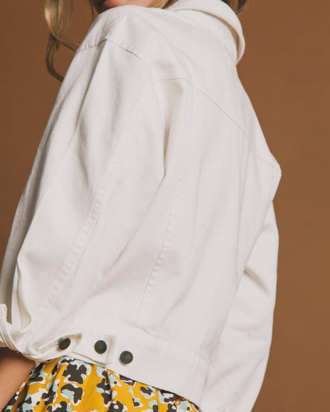 Veste blanche en coton bio - rufiji - Thinking Mu num 2