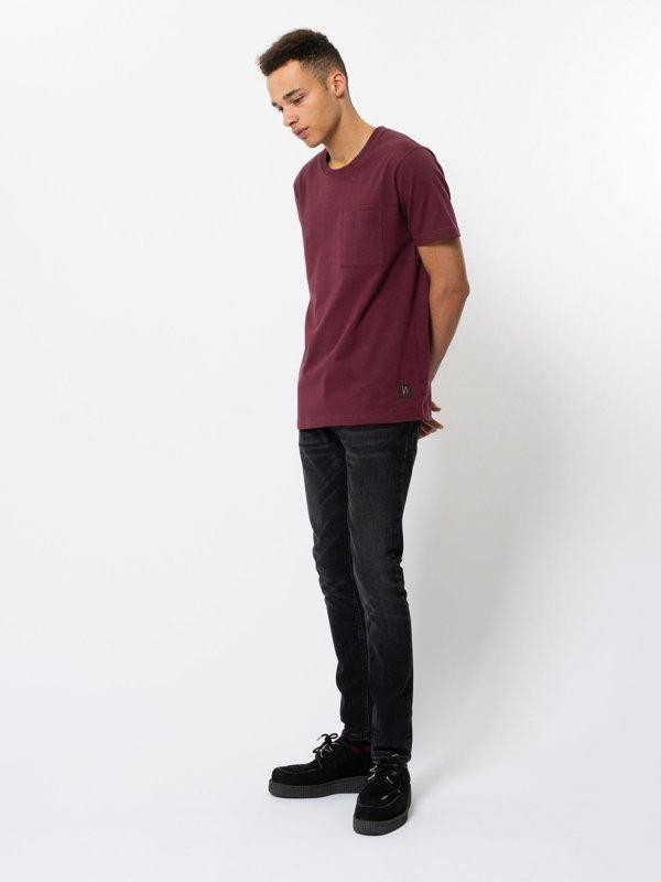 T-shirt figue avec poche en coton bio - kurt - Nudie Jeans num 1