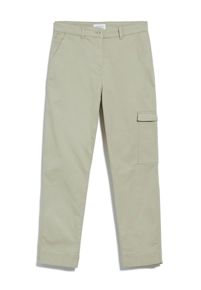 Pantalon cargo vert pâle en coton bio - virginiaa - Armedangels num 4