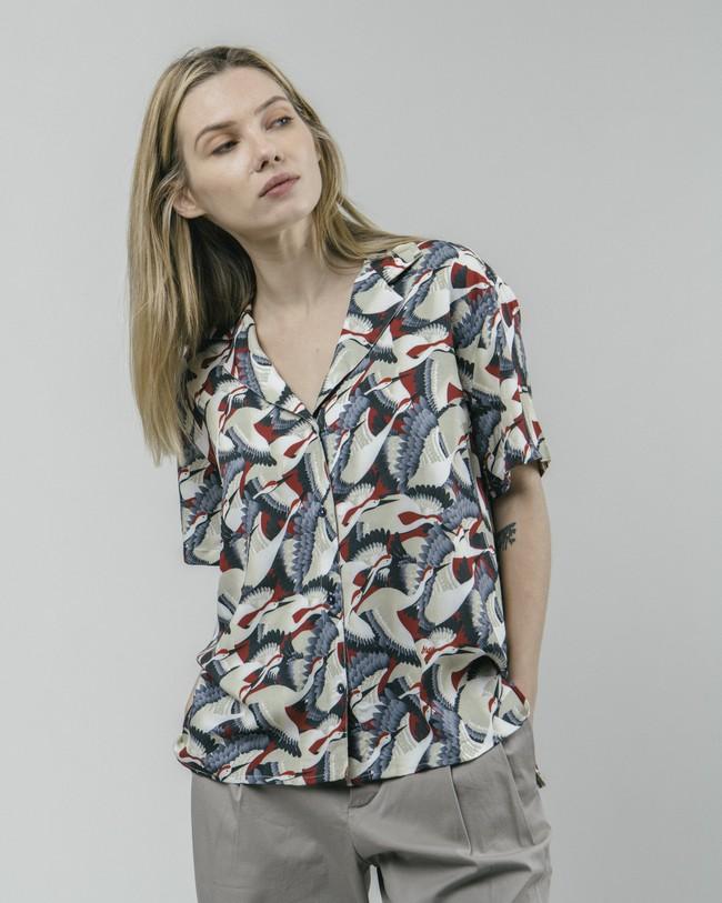 Crane for luck aloha blouse - Brava Fabrics