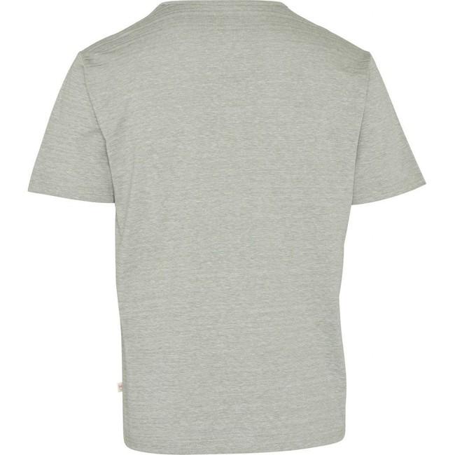 T-shirt vert clair chiné en coton bio - slope striped pique - Knowledge Cotton Apparel num 1