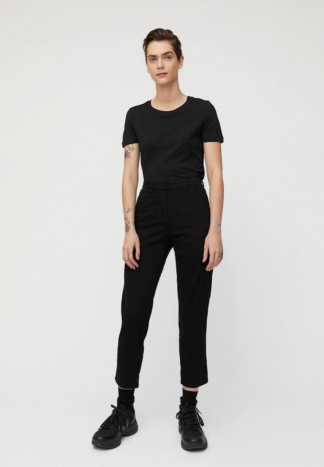 Pantalon cargo noir en coton bio - virginiaa - Armedangels num 3