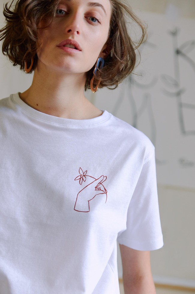 T-shirt coton bio - noyoco x diane - Noyoco num 10