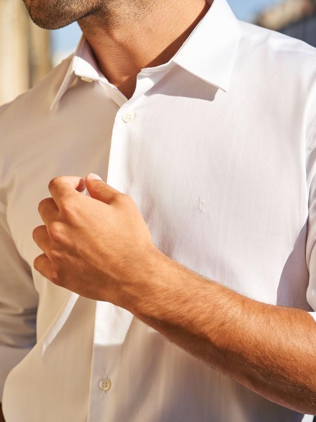 La chemise formelle | twill double retors albini - Lautrec num 5