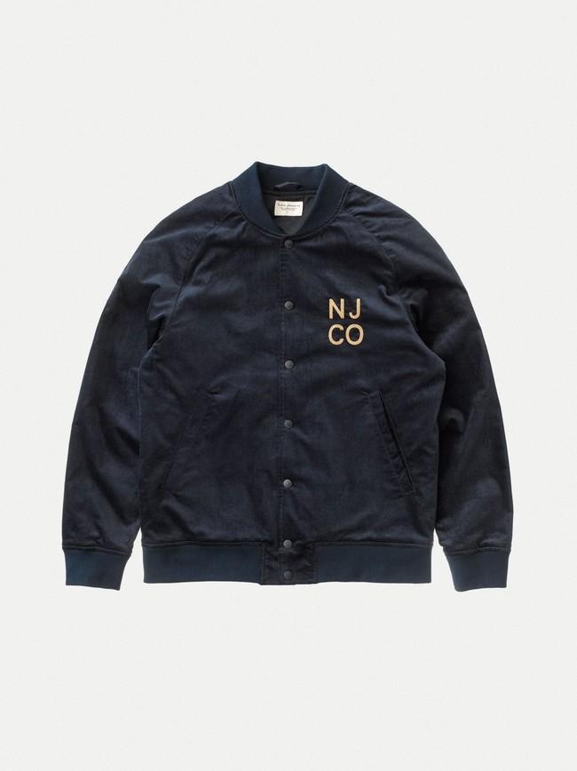 Veste bomber marine en coton bio - mark - Nudie Jeans num 7