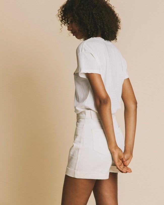 T-shirt imprimé blanc en coton bio - hope - Thinking Mu num 3