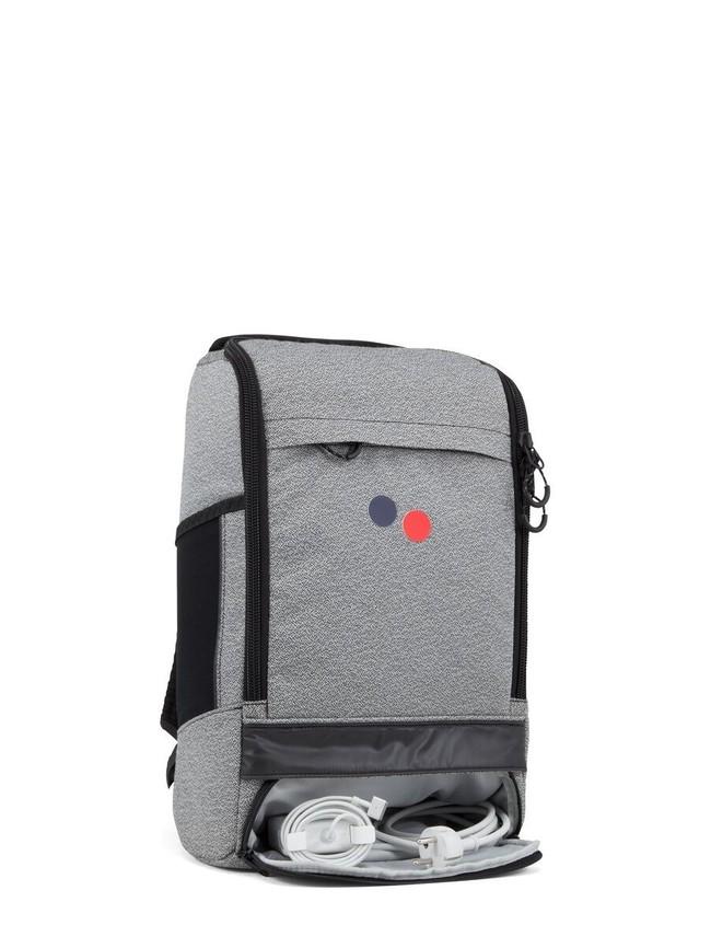 Sac à dos gris et noir en plastique recyclé - cubik medium - pinqponq num 1
