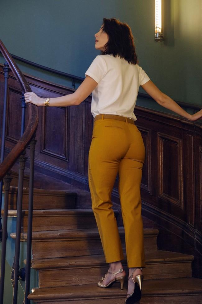 Pantalon tailleur new-york jaune safran - 17h10 num 3